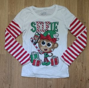Justice brand size 8 Christmas shirt
